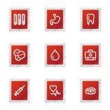 Ιστός ιατρικής εικονιδίων διανυσματική απεικόνιση