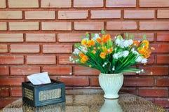 Ιστός και λουλούδι Στοκ Εικόνες