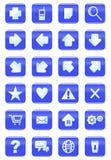 Ιστός και σύνολο εικονιδίων Διαδικτύου Στοκ εικόνες με δικαίωμα ελεύθερης χρήσης
