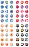 Ιστός και σύνολο εικονιδίων Διαδικτύου Στοκ Φωτογραφίες
