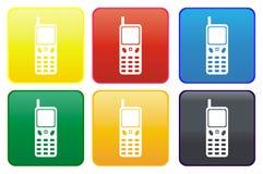 Ιστός κινητών τηλεφώνων κουμπιών απεικόνιση αποθεμάτων