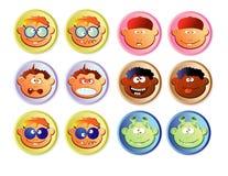 Ιστός κουμπιών αγοριών Διανυσματική απεικόνιση