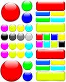 Ιστός κουμπιών Στοκ εικόνες με δικαίωμα ελεύθερης χρήσης