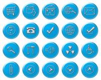 Ιστός κουμπιών Στοκ φωτογραφία με δικαίωμα ελεύθερης χρήσης