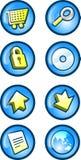 Ιστός κουμπιών Στοκ Εικόνες