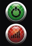 Ιστός κουμπιών Στοκ Φωτογραφίες