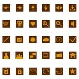 Ιστός κλειδωμάτων εικονιδίων αλυσίδων Στοκ φωτογραφία με δικαίωμα ελεύθερης χρήσης