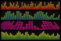 Ιστός μουσικής εξισωτών εμβλημάτων Στοκ Εικόνες