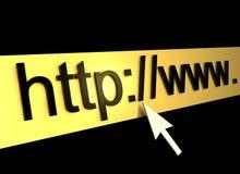 Ιστός σελίδων HTTP υπολογιστών ανασκόπησης Στοκ Φωτογραφίες