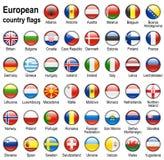 Ιστός σημαιών κουμπιών Στοκ Εικόνες