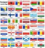 Ιστός σημαιών κουμπιών Στοκ εικόνα με δικαίωμα ελεύθερης χρήσης