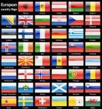 Ιστός σημαιών κουμπιών Στοκ φωτογραφία με δικαίωμα ελεύθερης χρήσης