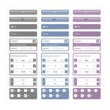 Ιστός στοιχείων κουμπιών Στοκ Φωτογραφίες