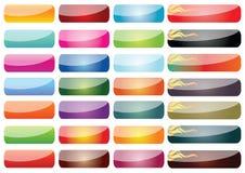 Ιστός στοιχείων κουμπιών Στοκ φωτογραφίες με δικαίωμα ελεύθερης χρήσης