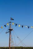 Ιστός στο σκάφος πειρατών Στοκ εικόνα με δικαίωμα ελεύθερης χρήσης