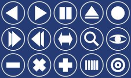 Ιστός συνόλων κουμπιών Στοκ φωτογραφία με δικαίωμα ελεύθερης χρήσης