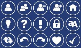 Ιστός συνόλων κουμπιών Στοκ εικόνα με δικαίωμα ελεύθερης χρήσης