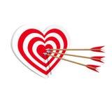 Ιστός τέχνης εικονιδίων καρδιών στόχων Έννοια Amorousness Στοκ φωτογραφίες με δικαίωμα ελεύθερης χρήσης
