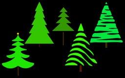 Ιστός τα στοιχεία σχεδίου Χριστουγέννων που τίθενται το δέντρο ελεύθερη απεικόνιση δικαιώματος