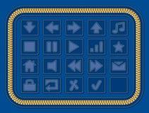 Ιστός τζιν κουμπιών Στοκ εικόνα με δικαίωμα ελεύθερης χρήσης