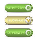 Ιστός του Πάτρικ s ST ημέρας κουμπιών Στοκ εικόνες με δικαίωμα ελεύθερης χρήσης