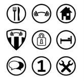 Ιστός υπηρεσιών εικονιδίων κουμπιών Στοκ εικόνα με δικαίωμα ελεύθερης χρήσης