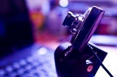 Ιστός φωτογραφικών μηχανών Στοκ Φωτογραφίες