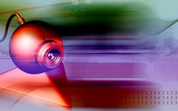 Ιστός φωτογραφικών μηχανών απεικόνιση αποθεμάτων