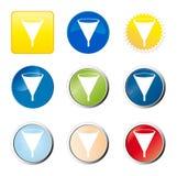 Ιστός χοανών κουμπιών Στοκ φωτογραφίες με δικαίωμα ελεύθερης χρήσης