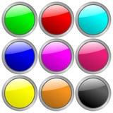 Ιστός 0 2 κουμπιών Ελεύθερη απεικόνιση δικαιώματος