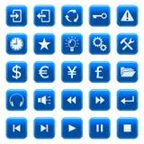 Ιστός 2 εικονιδίων κουμπι Στοκ Εικόνα