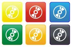 Ιστός CD κουμπιών Στοκ εικόνα με δικαίωμα ελεύθερης χρήσης