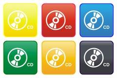 Ιστός Cd κουμπιών Στοκ εικόνες με δικαίωμα ελεύθερης χρήσης