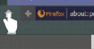 Ιστός Firefox για τη σελίδα Στοκ Εικόνες