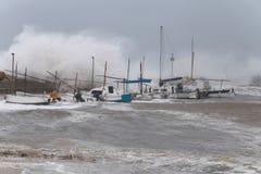 Ισχυρά θύελλα και κύματα στη EL Arenal ευρέως Στοκ φωτογραφίες με δικαίωμα ελεύθερης χρήσης