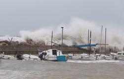 Ισχυρά θύελλα και κύματα στη EL Arenal Στοκ Φωτογραφίες