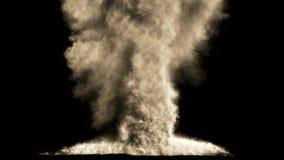 Ισχυρή έκρηξη με τον άλφα απόθεμα βίντεο
