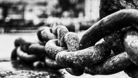 Ισχυρή αλυσίδα αγκύρων Στοκ Εικόνα