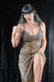 ισχυρή γυναίκα τιγρών Στοκ Φωτογραφία