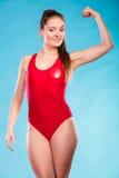 Ισχυρή γυναίκα lifeguard lifesaver Στοκ Φωτογραφίες