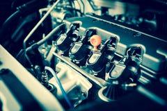 Ισχυρή μηχανή ενός αυτοκινήτου Εσωτερικό σχέδιο της μηχανής Στοκ εικόνες με δικαίωμα ελεύθερης χρήσης