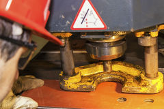 Ισχυρή μηχανή οργάνων ελέγχου εργαζομένων στοκ φωτογραφίες