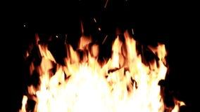 Ισχυρή πυρκαγιά δεσμών πραγματικής πυρκαγιάς φιλμ μικρού μήκους