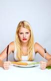 Ισχυρή υγιής γυναίκα με το carott Στοκ Εικόνες
