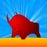 Ισχυρή χρηματοδότηση του Bull ελεύθερη απεικόνιση δικαιώματος