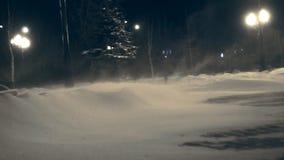 Ισχυρός άνεμος το χειμώνα απόθεμα βίντεο