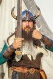 Ισχυρός Βίκινγκ με το ξίφος του στοκ φωτογραφία με δικαίωμα ελεύθερης χρήσης