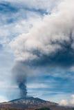 Ισχυρός παροξυσμός στο ηφαίστειο Etna στοκ εικόνες με δικαίωμα ελεύθερης χρήσης