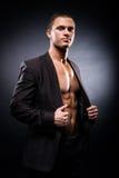 Ισχυρό, κατάλληλο και φίλαθλο stripper άτομο Στοκ φωτογραφία με δικαίωμα ελεύθερης χρήσης