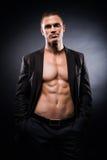 Ισχυρό, κατάλληλο και φίλαθλο stripper άτομο Στοκ εικόνες με δικαίωμα ελεύθερης χρήσης